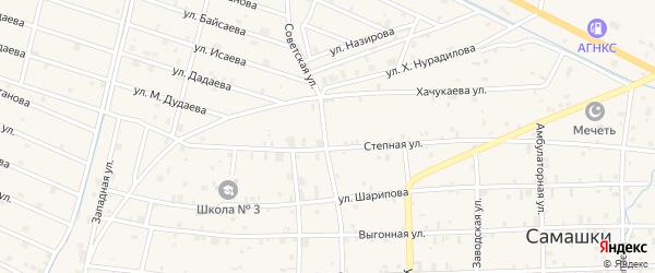 Советская улица на карте села Самашки с номерами домов