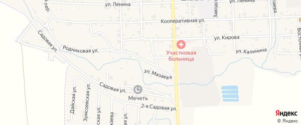 Родниковая улица на карте села Самашки с номерами домов