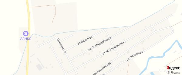 Майская улица на карте села Ачхой-мартана с номерами домов