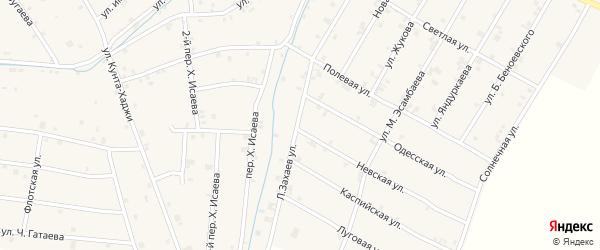 Лесхозная улица на карте села Ачхой-мартана с номерами домов