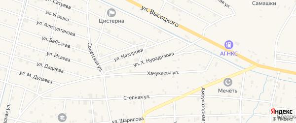Улица Х.Нурадилова на карте села Самашки с номерами домов