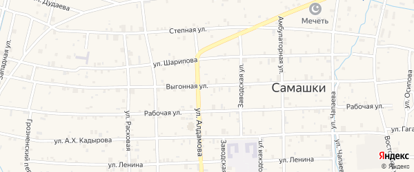 Выгонная улица на карте села Самашки с номерами домов