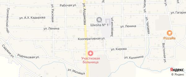 Кооперативная улица на карте села Самашки с номерами домов