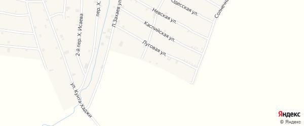 Зеленная улица на карте села Ачхой-мартана с номерами домов