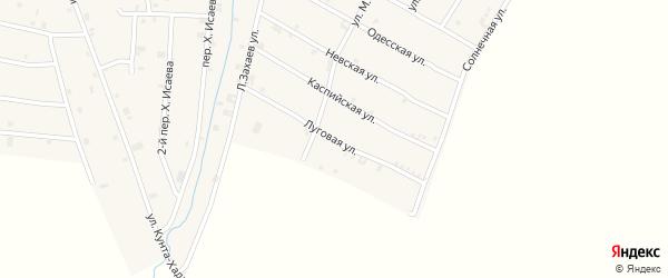 Луговая улица на карте села Ачхой-мартана с номерами домов