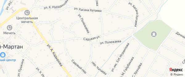 Переулок Садовая на карте села Ачхой-мартана с номерами домов