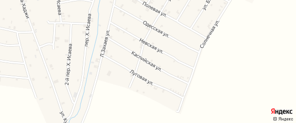 Каспийская улица на карте села Ачхой-мартана с номерами домов