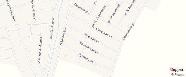 Невская улица на карте села Ачхой-мартана с номерами домов