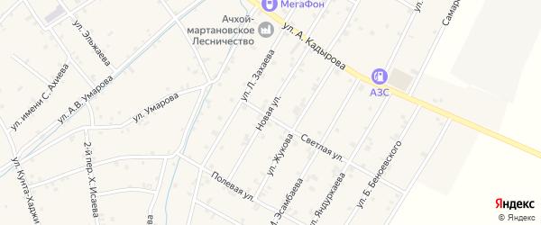 Новая улица на карте села Ачхой-мартана с номерами домов