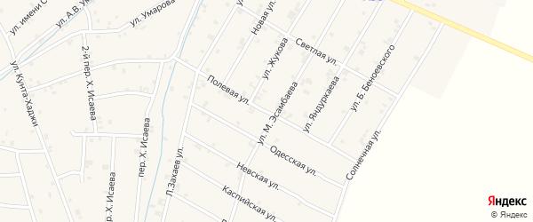 Полевая улица на карте села Ачхой-мартана с номерами домов