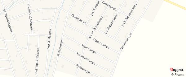 Одесская улица на карте села Ачхой-мартана с номерами домов