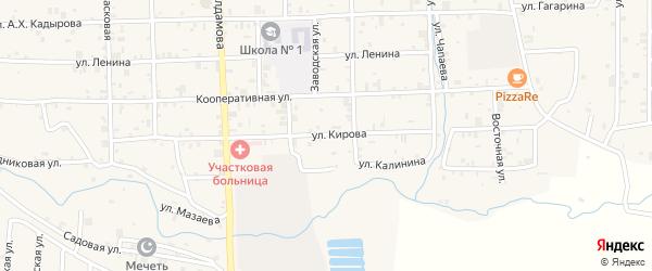 Улица Кирова на карте села Самашки с номерами домов