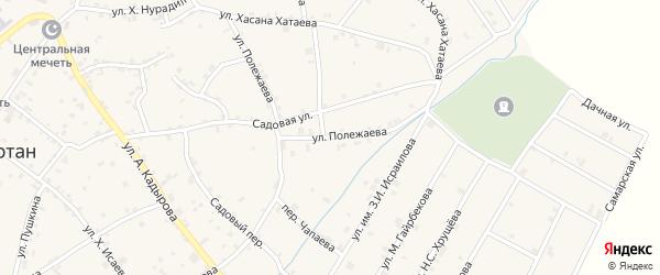 Улица Полежаева на карте села Ачхой-мартана с номерами домов