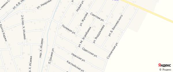 Улица М.Эсамбаева на карте села Ачхой-мартана с номерами домов