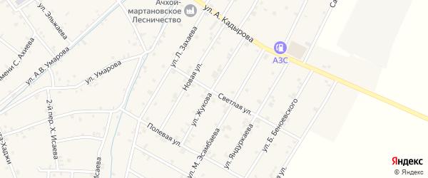 Улица Г.К.Жукова на карте села Ачхой-мартана с номерами домов