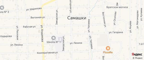 Амбулаторная улица на карте села Самашки с номерами домов