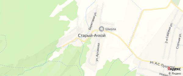 Карта села Старый-Ачхой в Чечне с улицами и номерами домов