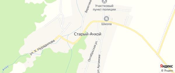 Улица А.А.Кадырова на карте села Старый-Ачхой с номерами домов