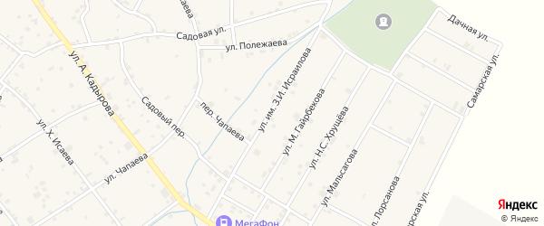 Улица Мира на карте села Ачхой-мартана с номерами домов