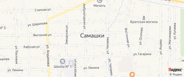 Улица М.Мамакаева на карте села Самашки с номерами домов