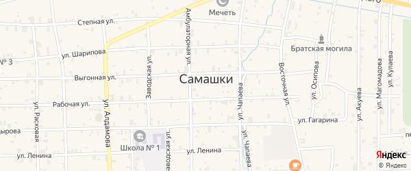 Высоковольтная улица на карте села Самашки с номерами домов