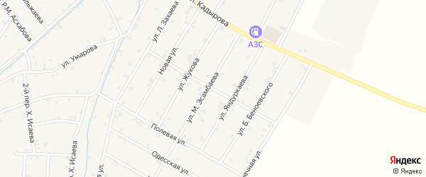 Светлая улица на карте села Ачхой-мартана с номерами домов