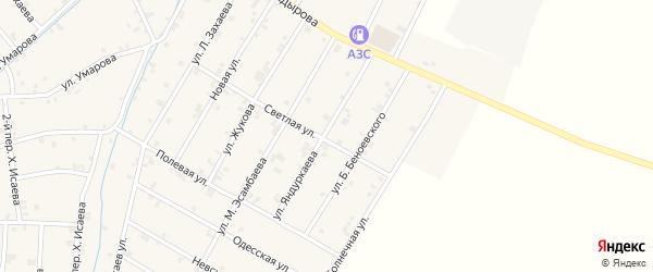 Улица Р.Р.Яндуркаева на карте села Ачхой-мартана с номерами домов