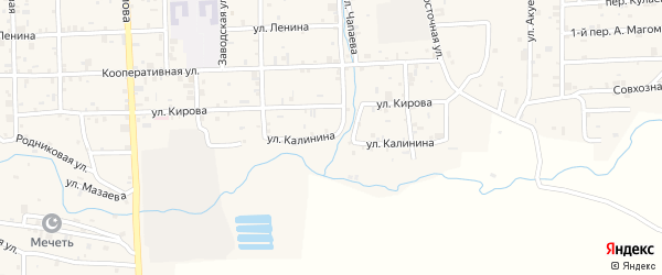 Улица Калинина на карте села Самашки с номерами домов