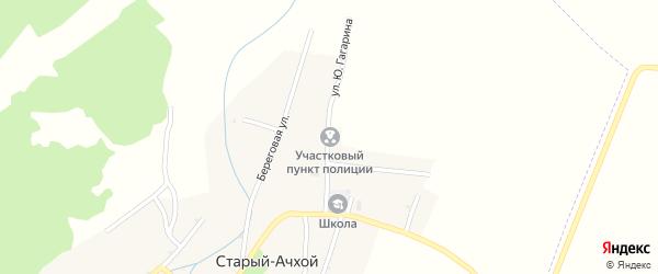 Улица Ю.Гагарина на карте села Хамби-Ирзи с номерами домов