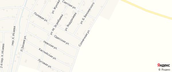 Солнечная улица на карте села Ачхой-мартана с номерами домов