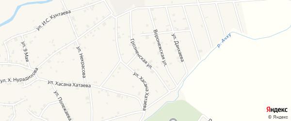 Грозненская улица на карте села Ачхой-мартана с номерами домов