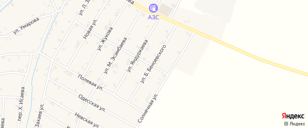 Улица Б.Беноевского на карте села Ачхой-мартана с номерами домов