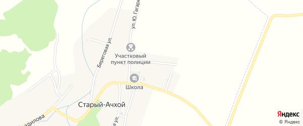 Улица Дружбы на карте села Старый-Ачхой с номерами домов