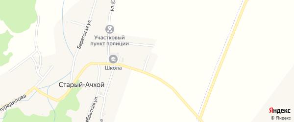 Новая улица на карте села Старый-Ачхой с номерами домов