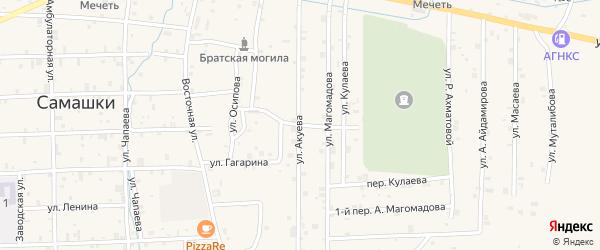 Улица Жукова на карте села Самашки с номерами домов