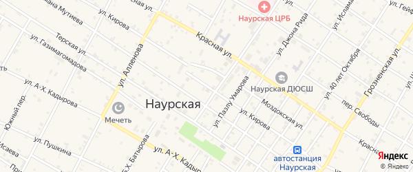 Улица Кирова на карте Наурская станицы с номерами домов