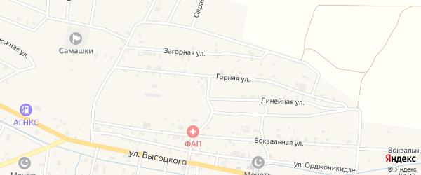 Шелковичная улица на карте села Самашки с номерами домов