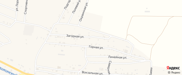 Загорная улица на карте села Самашки с номерами домов