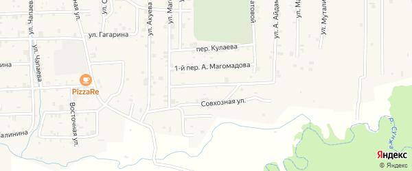 Переулок А.Магомадова на карте села Самашки с номерами домов