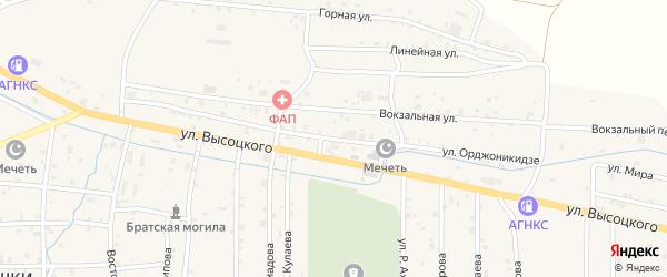 Улица С.Орджоникидзе на карте села Самашки с номерами домов