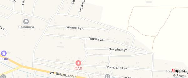 Горная улица на карте села Самашки с номерами домов