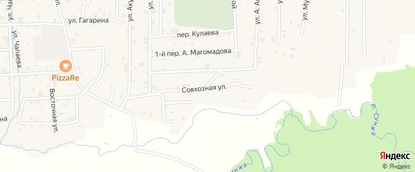 Совхозная улица на карте села Самашки с номерами домов