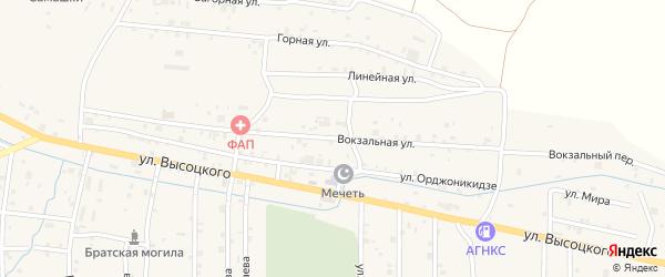 Вокзальная улица на карте села Самашки с номерами домов