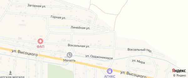 Северная улица на карте села Катар-Юрт с номерами домов