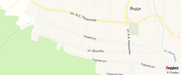 Новая улица на карте села Янди с номерами домов