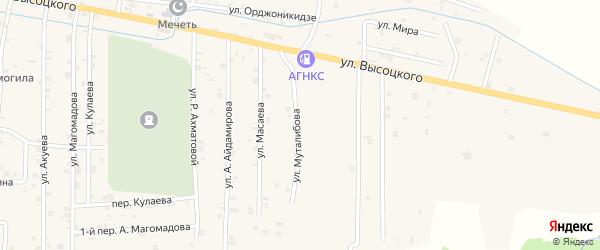 Улица З.Муталибова на карте села Самашки с номерами домов