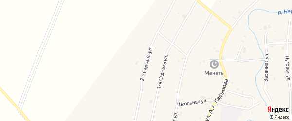 Садовая 2-я улица на карте села Янди с номерами домов