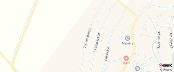 Садовая 2-я улица на карте села Катар-Юрт с номерами домов