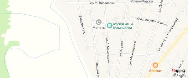 Улица Им Р.Такаева на карте Надтеречного села с номерами домов