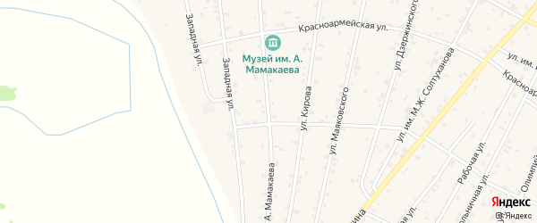 Улица А.Мамакаева на карте Надтеречного села с номерами домов